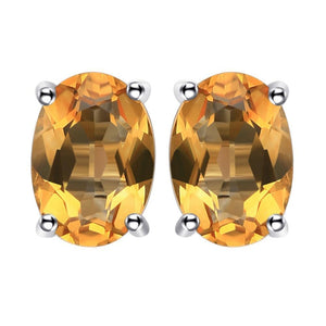 Jewelries And Accessories - Sterling Silver Citrine Wealth Magnet Earrings