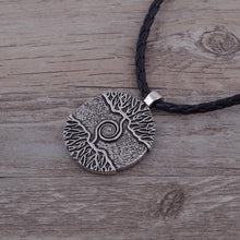 Load image into Gallery viewer, Necklace - 'As Above, So Below.' Tree Of Life Leather Necklace