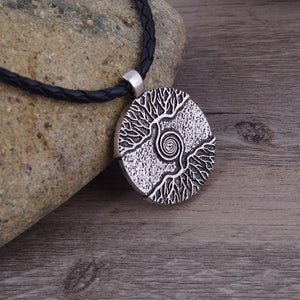 Necklace - 'As Above, So Below.' Tree Of Life Leather Necklace