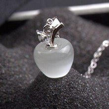 Load image into Gallery viewer, Necklace - Cat's Eye Moonstone Apple Necklace