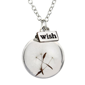 Necklace - Crystal Ball Dandelion Wish Necklace