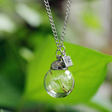 Load image into Gallery viewer, Necklace - Crystal Ball Dandelion Wish Necklace