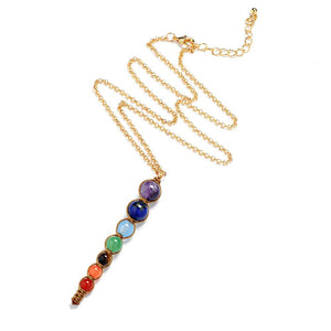 Necklace - Healing Balance 7 Chakra Taper Necklace