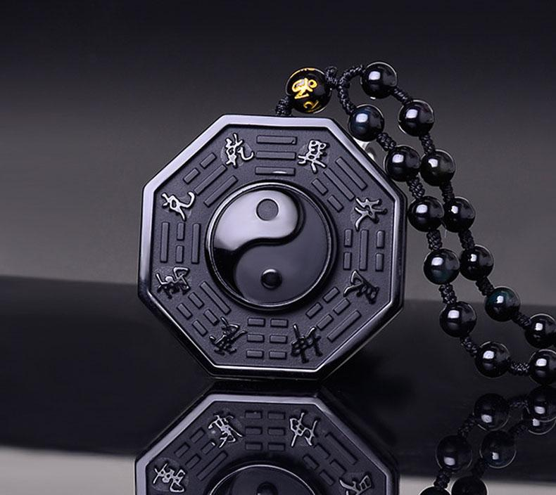 Necklace - Obsidian Yin Yang Necklace