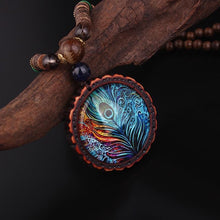 Load image into Gallery viewer, Necklace - Peacock Feather Ethnic Necklace