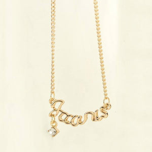Necklace - Zodiac Crystal Clavicle Necklace