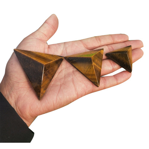 Tiger Eye Pyramid Talisman for Leadership and Authority