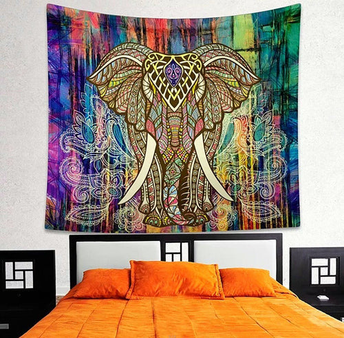 Ornaments - Lucky Elephant Mandala Tapestry