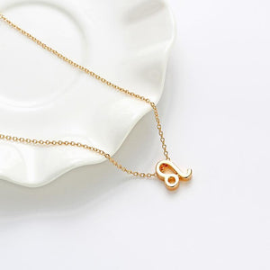 Pendant Necklaces - Dainty Zodiac Sign Clavicle Necklace (Leo)