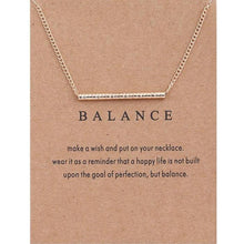 "Load image into Gallery viewer, Pendant Necklaces - ""Find Your Balance"" Clavicle Necklace"