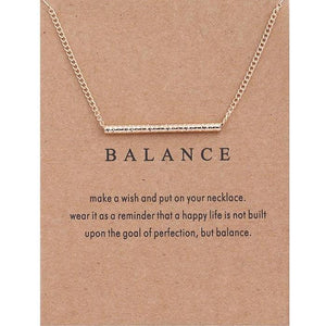 "Pendant Necklaces - ""Find Your Balance"" Clavicle Necklace"
