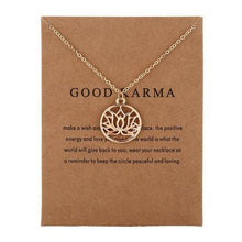 Load image into Gallery viewer, Pendant Necklaces - GOOD KARMA Buddha Lotus Pendant Necklace