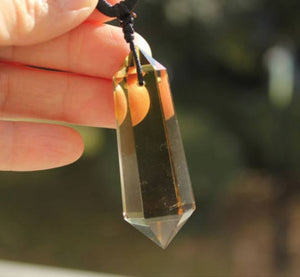 Pendant Necklaces - Natural Citrine Wealth Pendant Necklace