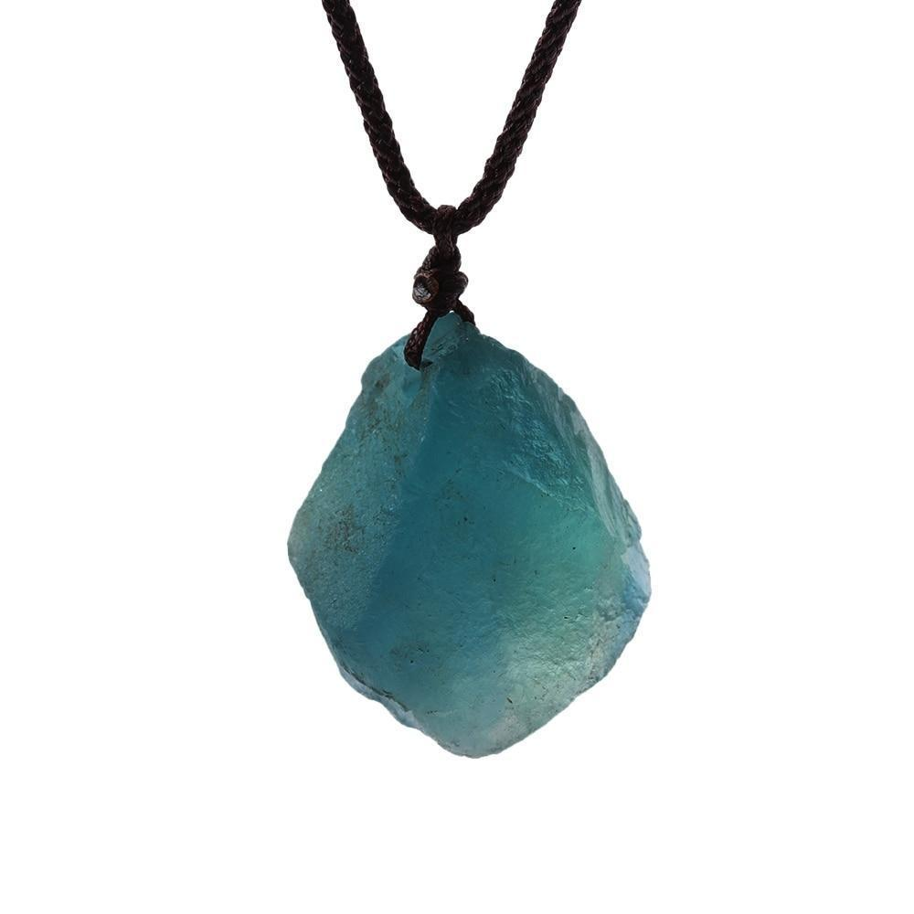 Pendant Necklaces - Natural Green Crystal Healing Necklace