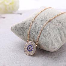 Load image into Gallery viewer, Pendant Necklaces - Rhinestone Evil Eye Necklace