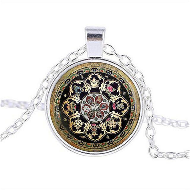 Pendant Necklaces - Sacred Tibetan Buddhist Mandala Necklace