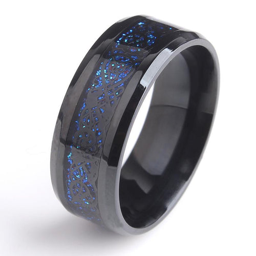 Ring - Black Dragon Essence Ring For Power And Protection