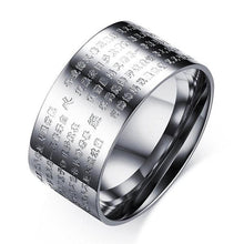 Load image into Gallery viewer, Ring - Buddha Scriptures Ring - The Heart Sutra Of Prajna Paramita