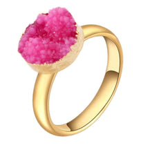 Load image into Gallery viewer, Ring - Natural Geode Druzy Ring