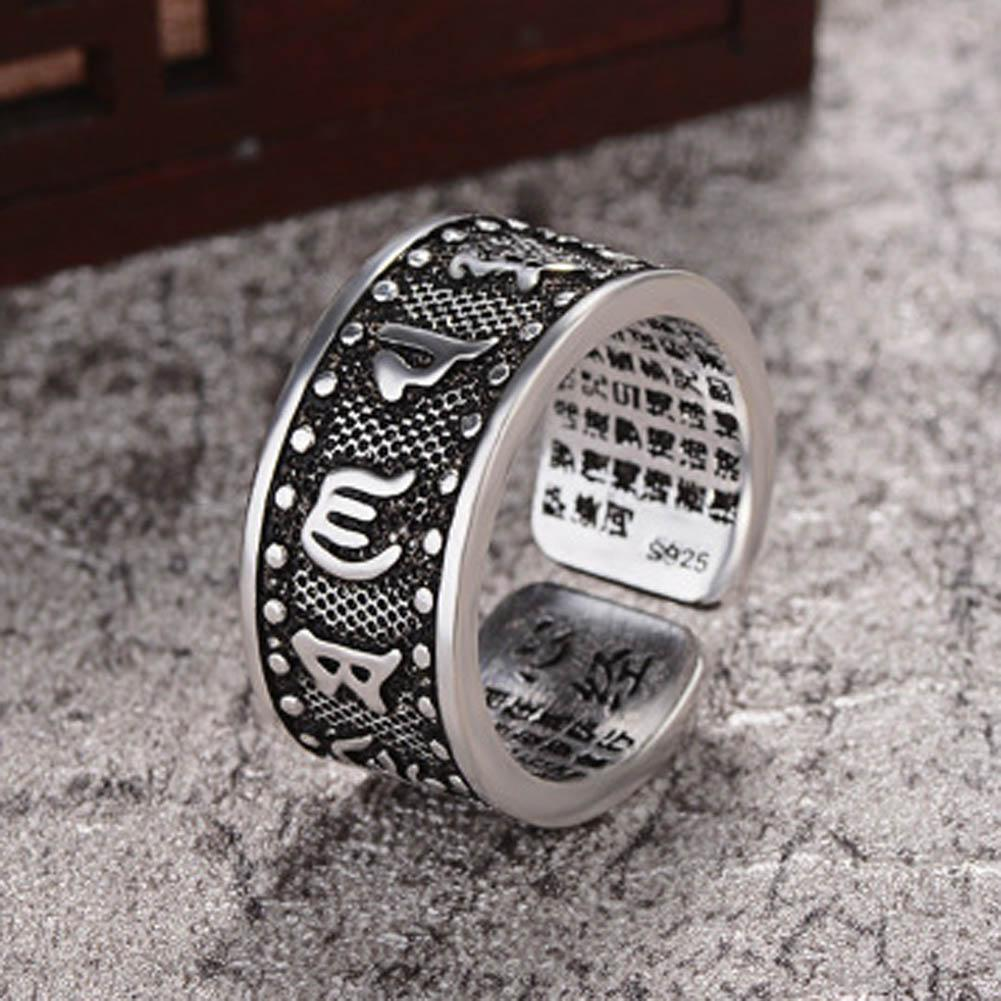 Ring - Open Lucky Buddha Mantra Ring