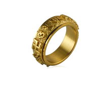 Load image into Gallery viewer, Rotating Om Mani Padme Hum Mantra Tibetan Ring