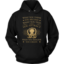Load image into Gallery viewer, T-shirt - Think, Feel, Imagine Hoodie