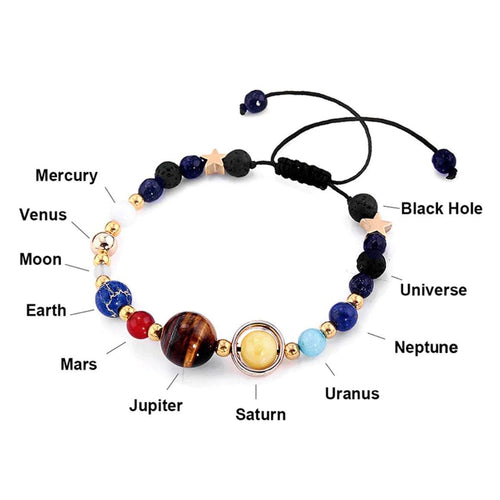 Universe Natural Stones Lucky Fortune Energy Healing Bracelet