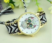 Load image into Gallery viewer, Watches - Handmade Braided Skull Watch