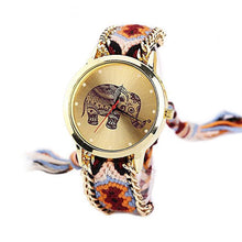 Load image into Gallery viewer, Watches - Woven Braided Mandala Elephant Watch