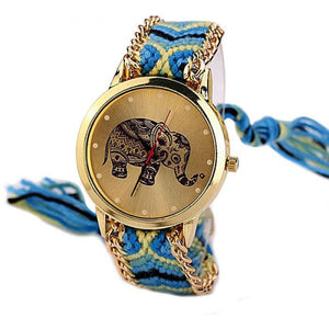 Watches - Woven Braided Mandala Elephant Watch