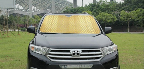 Car Sunshade: Double bubble thickened aluminum foil heat-insulating front