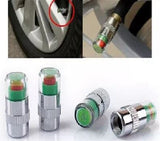 Wheel Pressure Tire Air Sensor: 4 x Car Valve Tyre Caps