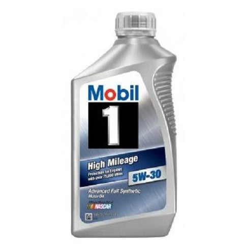 Engine Oil: Mobil 1 5W-30 High Mileage - 1 qt (946ml)
