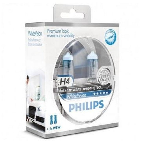 Headlight Bulb: PHILIPS WhiteVision H4 (Twin)