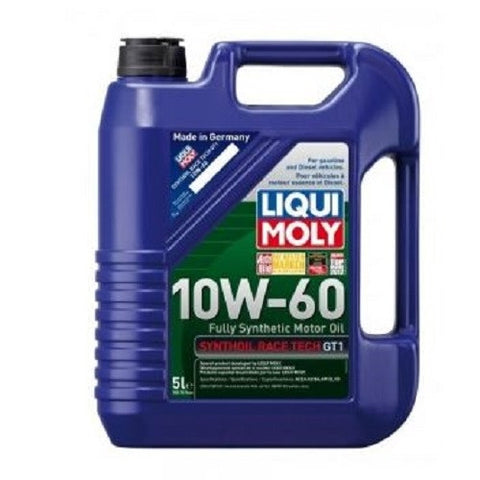Engine Oil: Liqui Moly Synthoil RACE TECH GT-1 10W60 - 5 Litres