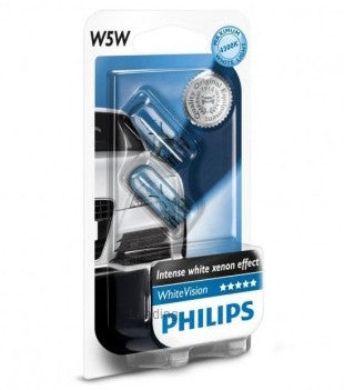 Light Bulb: PHILIPS WhiteVision W5W T10 4300K (Twin)