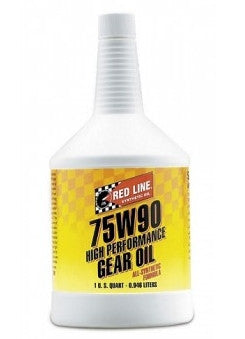 Transmission Fluid: Red Line 75W90 GL-5 Gear Oil - 1 qt (946ml)