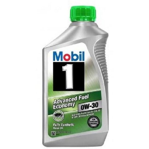 Engine Oil: Mobil 1 Adv. Fuel Economy 0W-30 - 1 qt (946ml)