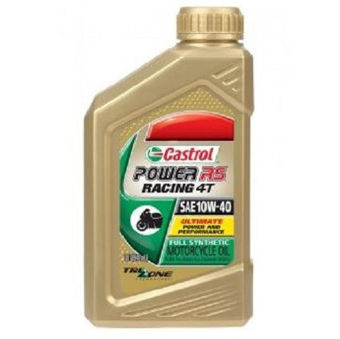 Engine Oil: Castrol Power RS™ Racing 4T 10W40 Full Synthetic Motorcycle Oil - 1 Quart