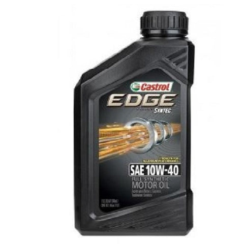 Engine Oil: Castrol EDGE 10W-40 - 1 qt (946ml)