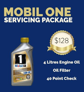 Servicing Package: Mobil 1 Engine Oil Vehicle Servicing