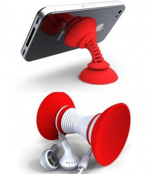 Simple Sucker Handphone Stand (Red)