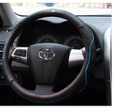 Steering Wheel Cover: Toyota Leather cover (fit for size 37-38cm wheel)