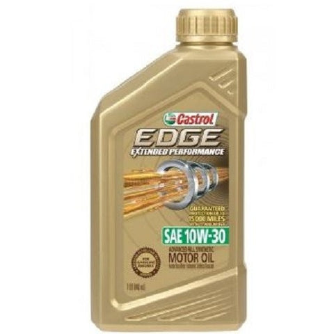 Engine Oil: Castrol EDGE Titanium Extended Performance 10W-30 - 1 qt (946ml)