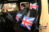 Car Neck Rest: Mini Cooper British Flag Style, 2 PCS set