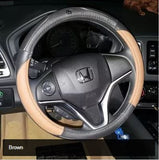 Steering Wheel Cover: Honda steering wheel Leather cover (Vezel/Fit/Crosstour/City/Odyssey/Civic/Accord/CRV/Cider/Jade)