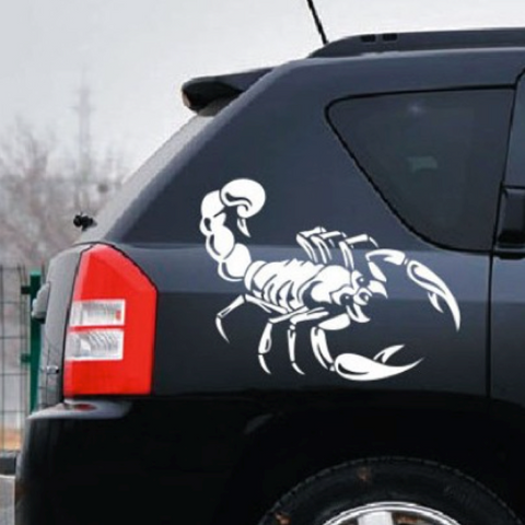 Car Decal: 30CM Cute 3D Scorpion Car Sticker