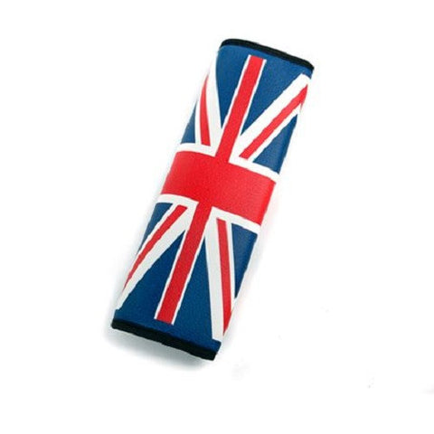 Seat Belt Cover: UK style, leather, 2 PC Set