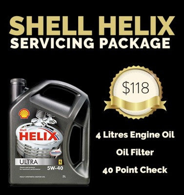 Servicing Package: Shell Helix Ultra 5W-40 Vehicle Servicing (PROMO)