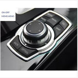BMW stainless steel multimedia buttons decorative frame for Series 1/3/5/7/x1/x3/x5/x6